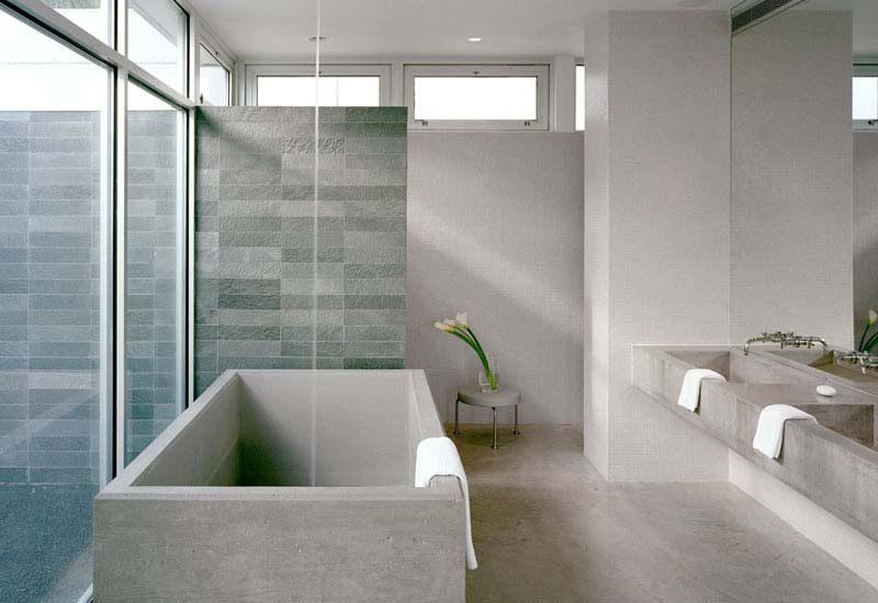Ba o minimalista con iluminaci n natural im genes y fotos - Bano sin ventilacion ...